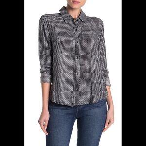 NWT Splendid Black White Button Down Shirt
